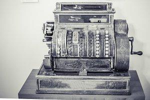 Antique style cash register