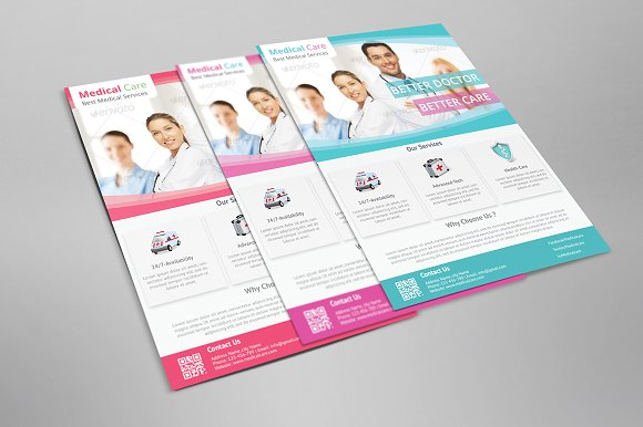 medical flyer template flyer templates creative market