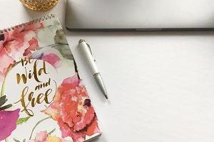 Floral Desktop Set of 5 Images