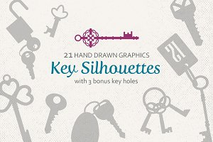Key Silhouettes with BONUS Key Holes
