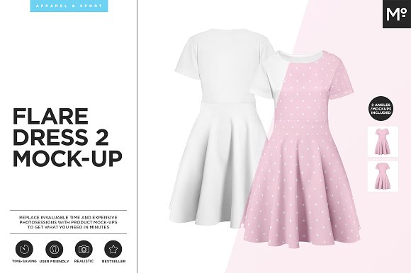 Download Flare Dress 2 Mock-up