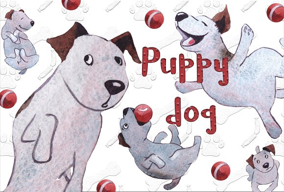 Puppy Dogs-Graphicriver中文最全的素材分享平台