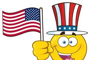 Happy Yellow Cartoon Emoji Face
