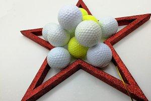 Xmas golf balls card