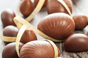 Easter chocolate egg sweets