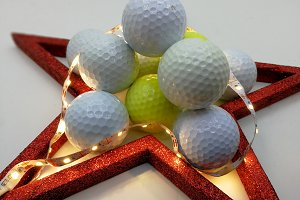 Christmas golf balls card