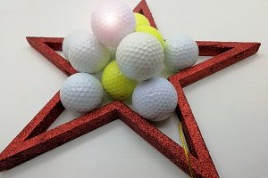 Christmas card balls golf