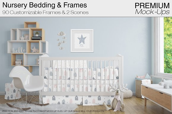 Free Nursery Beddings & Frames Pack