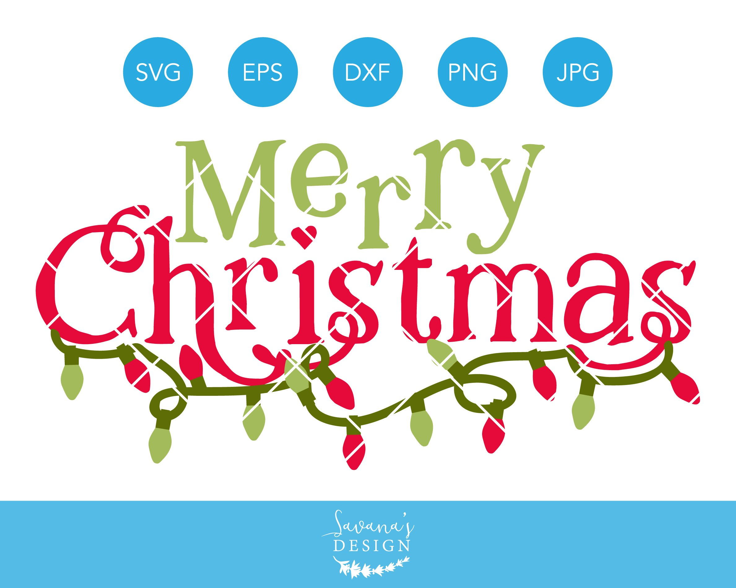 Download Merry Christmas SVG Cut File Cricut ~ Illustrations ...