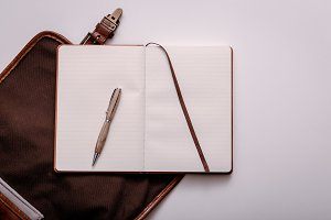 Pen and Journal from Backpack