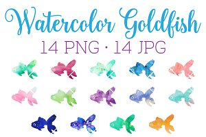Watercolor Goldfish Clipart Download