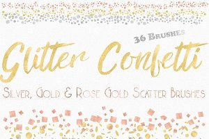 Glitter Confetti Scatter Brushes