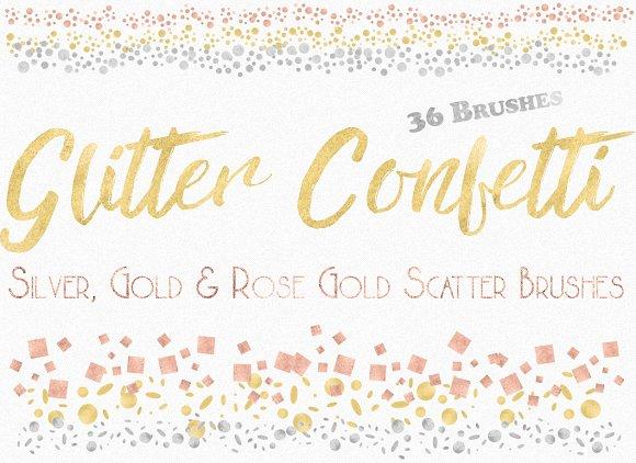 Glitter Confetti Scatter Br-Graphicriver中文最全的素材分享平台