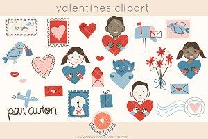 Valentine's Mail Clip Art