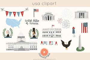 united states of america clip art