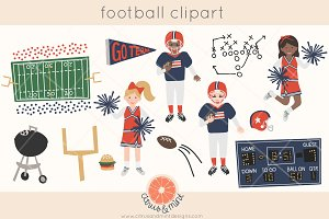 football cheerleader clipart