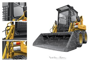 Light-brown Skid Steer Loader
