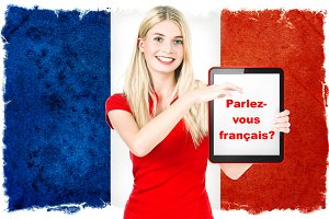 French language learning concept