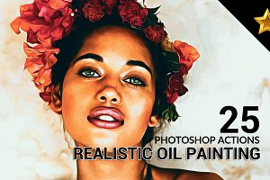 25 Realistic Oil Painting Actions 2