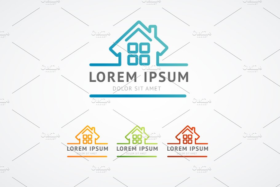 Vector. Real estate logo in Logo Templates - product preview 8