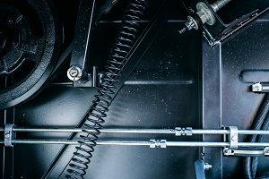 Gears of machinery chain