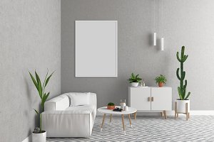Scandinavian interior - art display