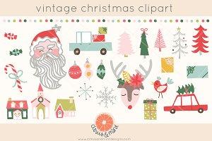 vintage christmas clip art