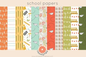 back to school digital papers