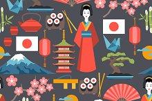 Japan seamless patterns.
