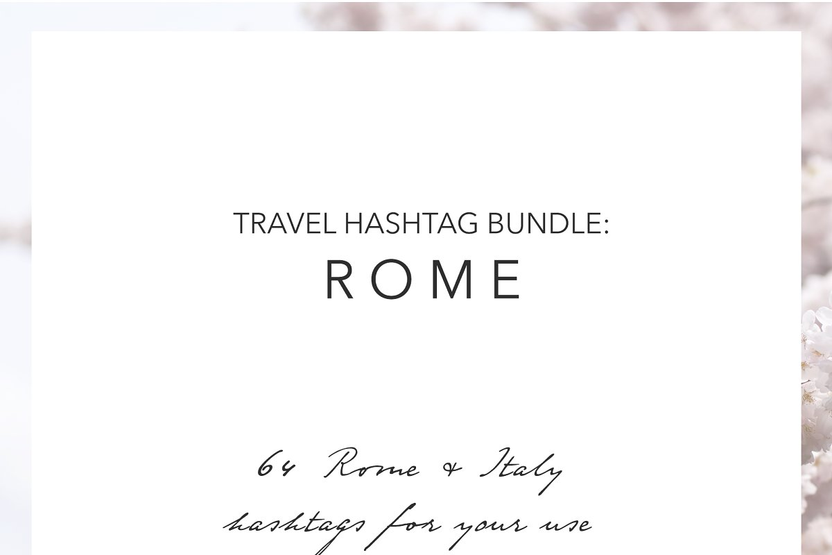 Rome Italy Instagram Hashtags