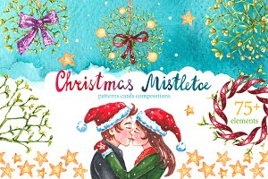 Christmas Mistletoe Watercolor Set