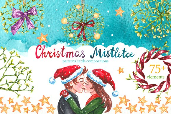 Christmas Mistletoe Waterco-Graphicriver中文最全的素材分享平台