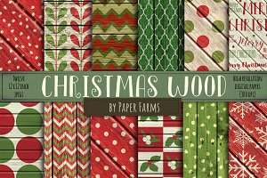 Rustic Christmas wood backgrounds