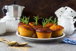 homemade hot sweet muffins