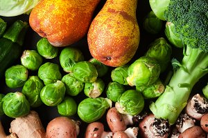 Heap of fresh and ripe vegetables