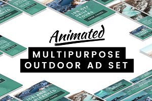 Animated Multipurpose Outdoor Ad Set