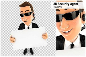 3D Security Agent Billboard