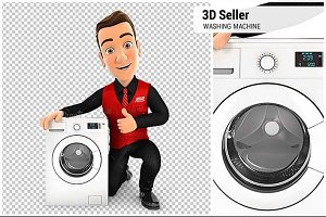 3D Seller with Washing Machine