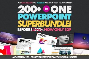 200+ Creative PowerPoint Superbundle