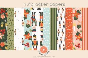 christmas nutcracker digital papers