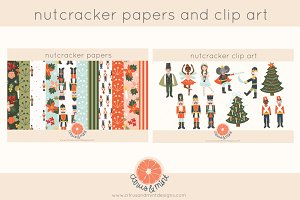nutcracker clip art and papers