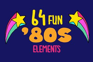 80s & 90s Clipart Illustrations