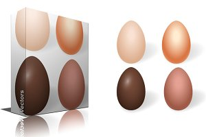 Choco Vector Eggs Designs