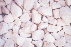 White decorative stones pattern