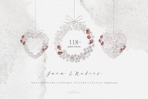 Snow and Rubies - Christmas Set