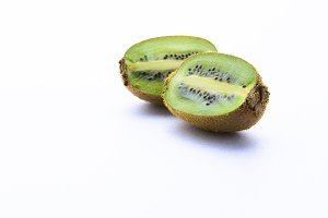 Kiwi on white seamless background