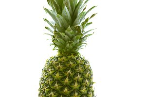 Pineapple on white isolated background