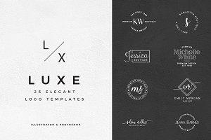 Luxe 25 Elegant Logo Templates