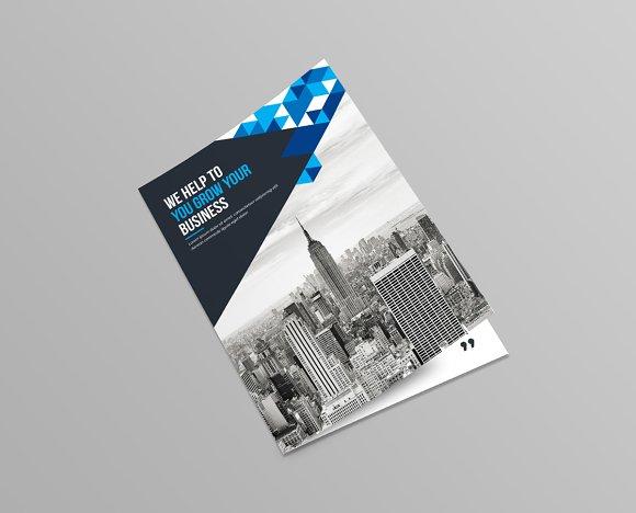 bi fold brochure template brochure templates creative market - Settlement Brochure Template