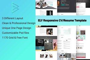 CV, Resume, vCard & Portfolio PSD